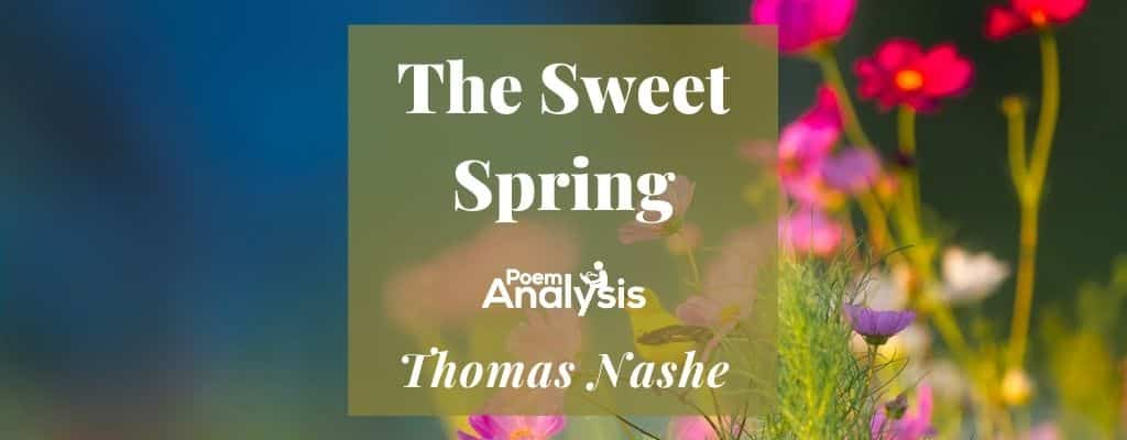 Spring, The Sweet Spring by Thomas Nashe
