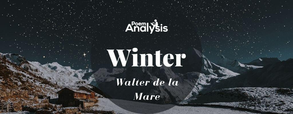Winter by Walter de la Mare