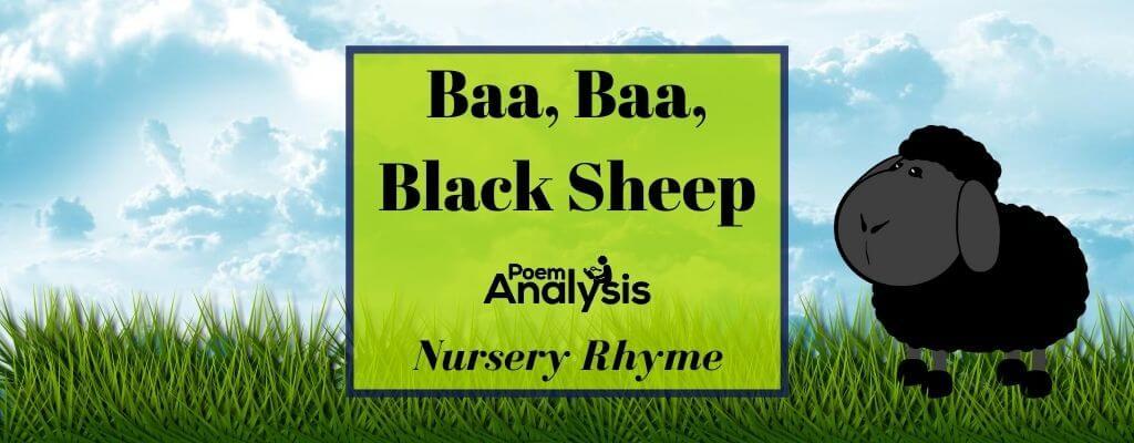 Baa, Baa, Black Sheepnursery rhyme
