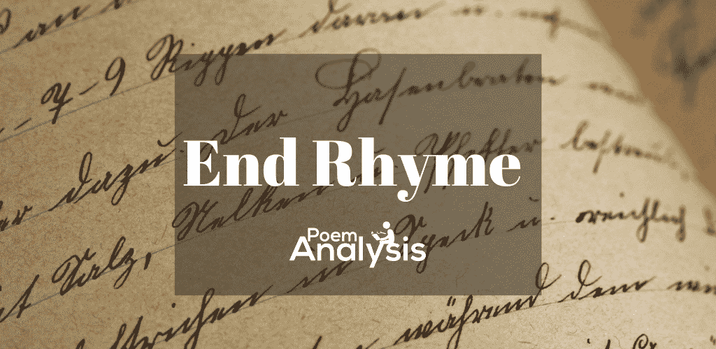 End Rhyme definition and examples