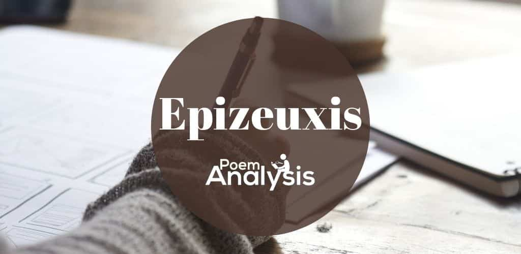 Epizeuxis definition and examples