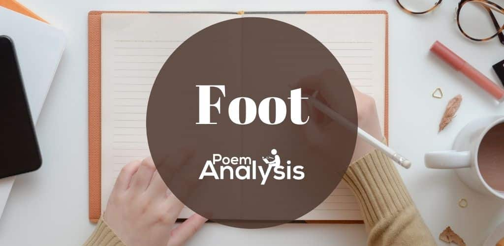 Poetic foot definition and examples