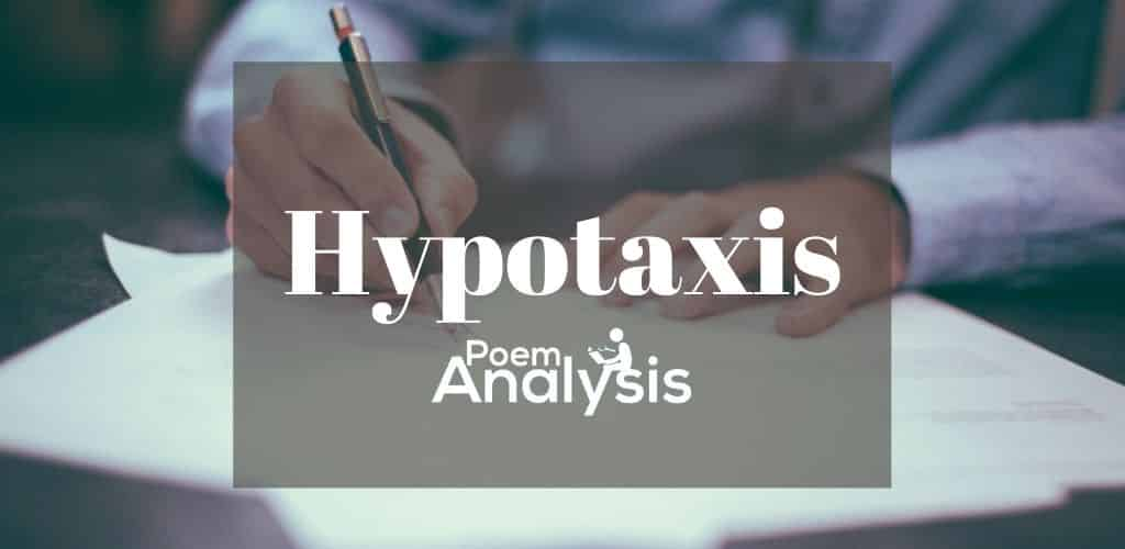 Hypotaxis definition and examples