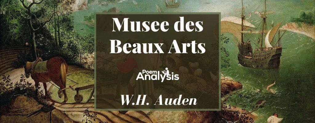 Musee des Beaux Arts by W.H. Auden