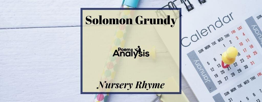 Solomon Grundy nursery rhyme