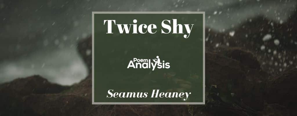 Twice Shy by Seamus Heaney