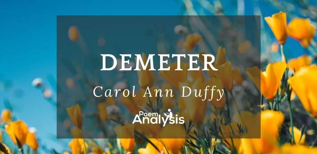 Demeter by Carol Ann Duffy