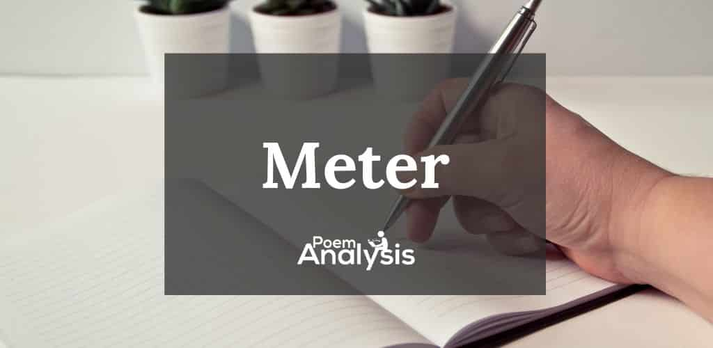 Poetic Meter definition and examples