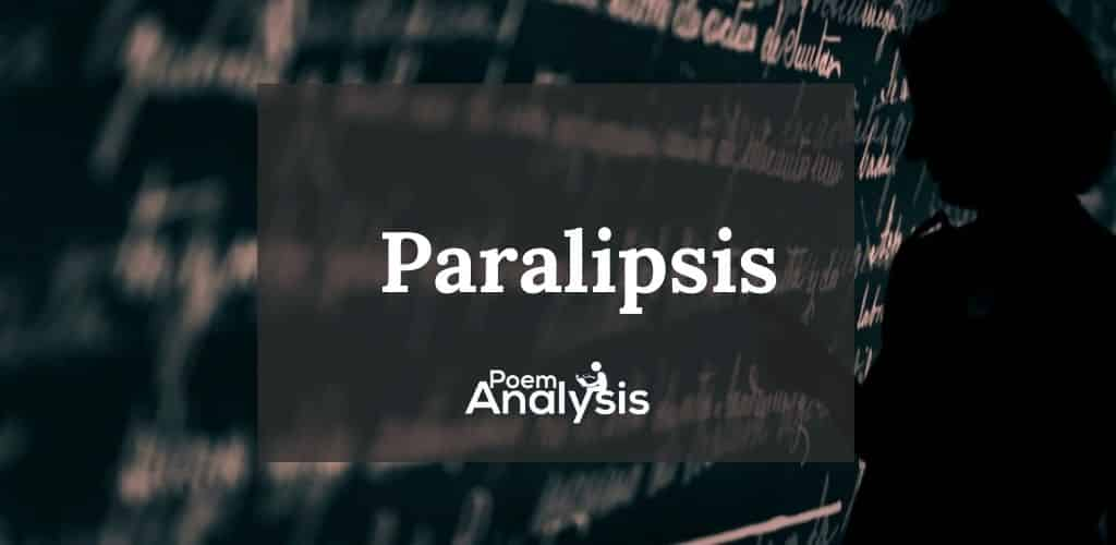 Paralipsis literary definition and examples