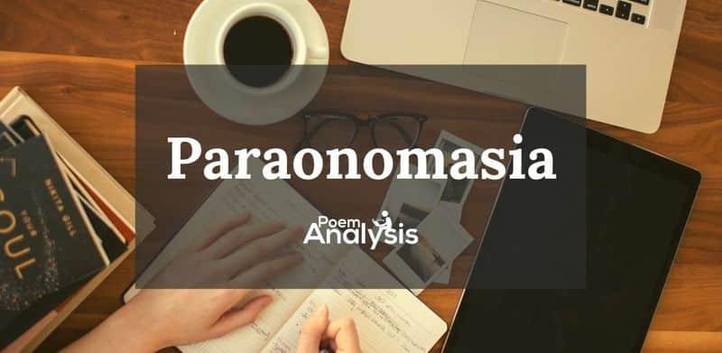 Paronomasia definition and examples