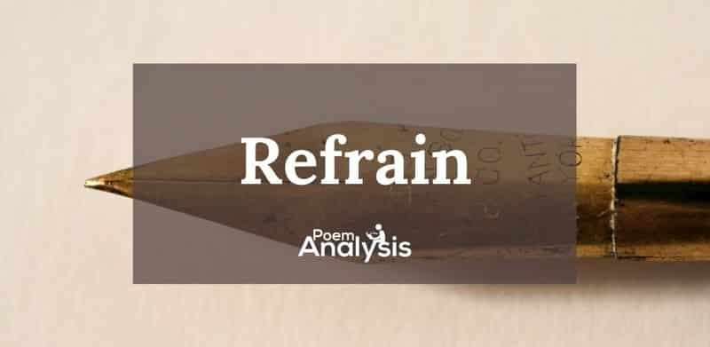 Refrain definition and poetic examples