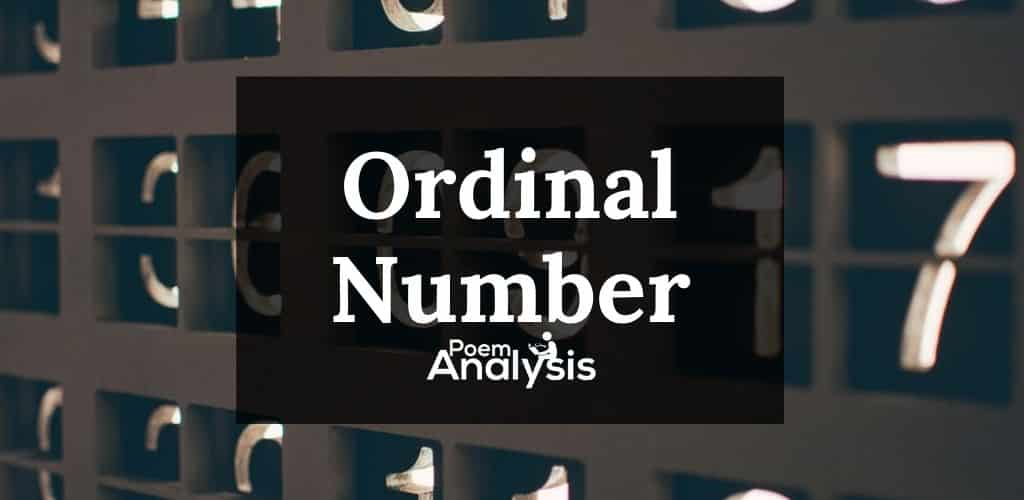 Ordinal Numberdefinition and examples