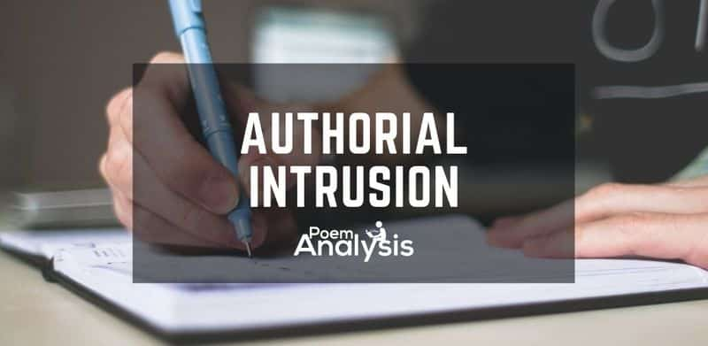 Authorial intrusion definition and examples