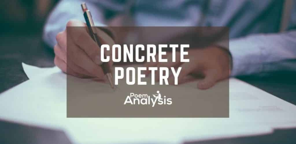 Concrete Poem definition and examples