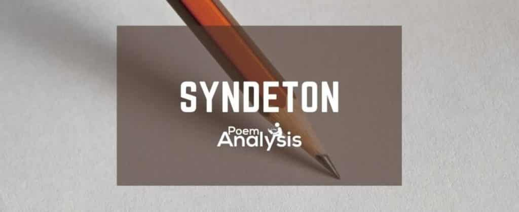 Syndeton definition and examples
