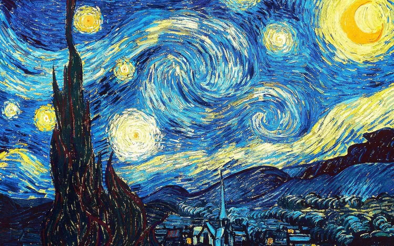 The Starry Night by Van Gogh Art