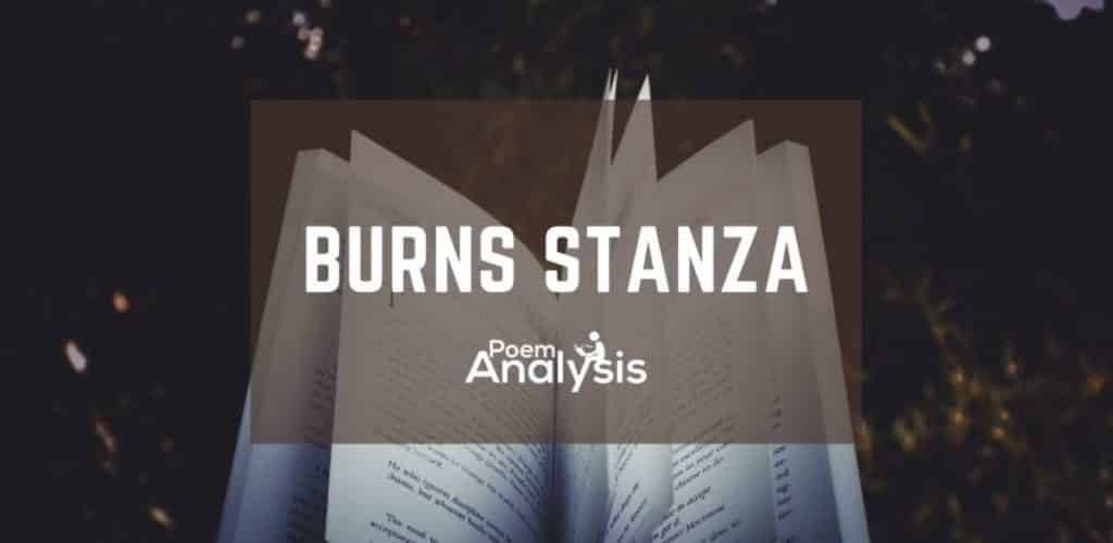 Burns Stanza definition and exampels