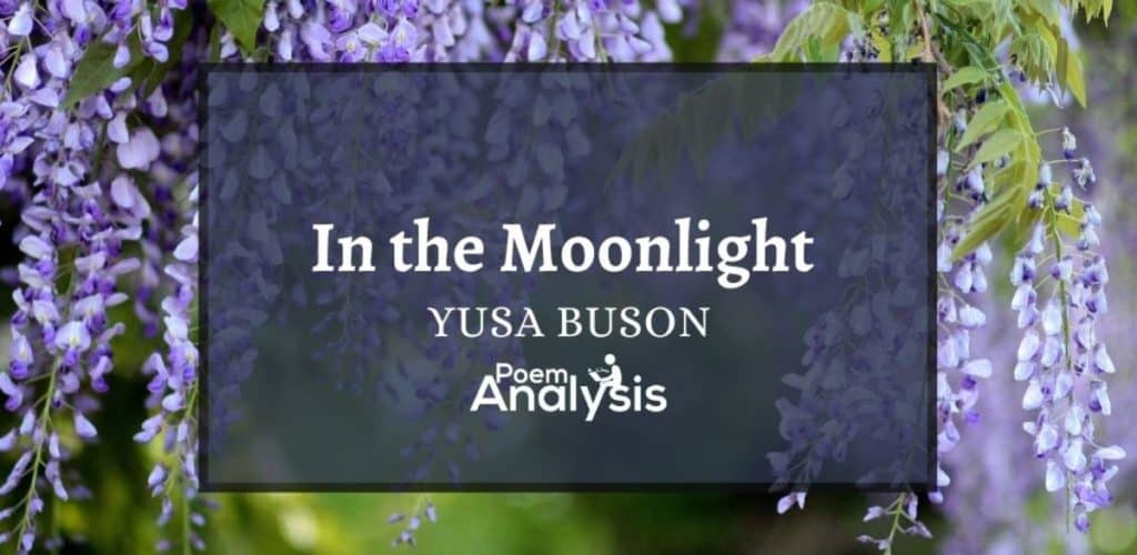 In the moonlight by Yosa Buson