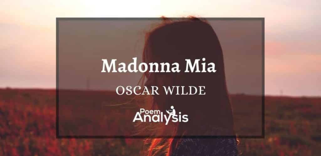 Madonna Mia by Oscar Wilde