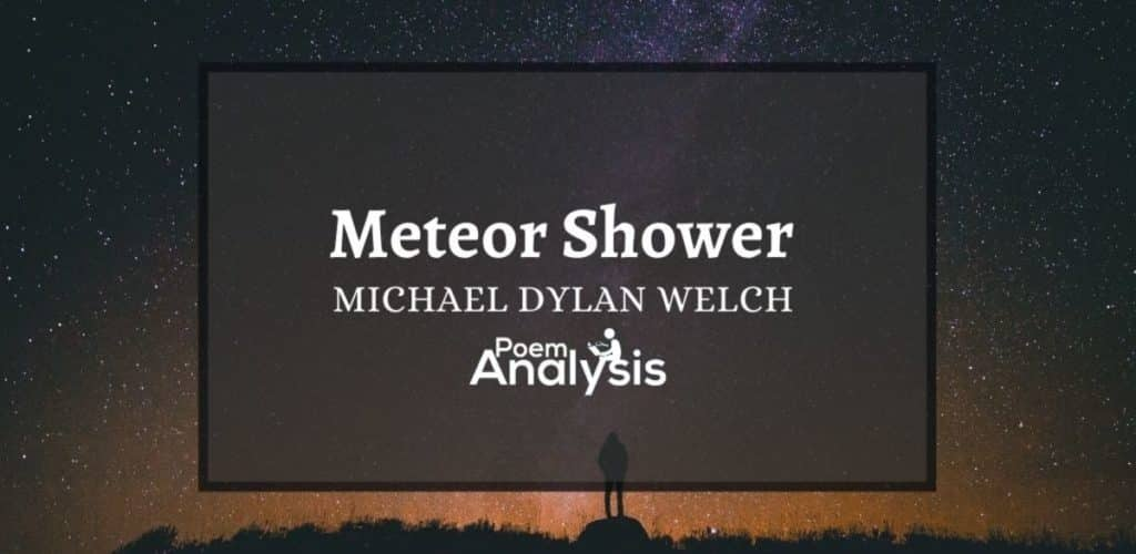Meteor Shower by Michael Dylan Welch