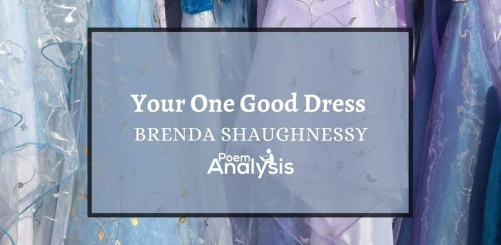 Your One Good Dress by Brenda Shaughnessy