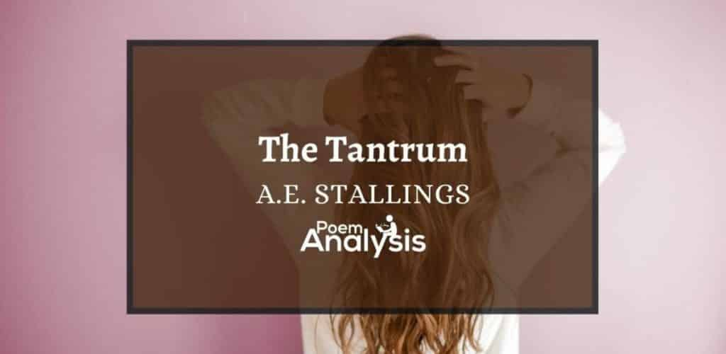 The Tantrum by A.E. Stallings