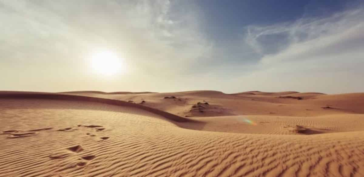 In the Desert by Stephen Crane Visual Representation