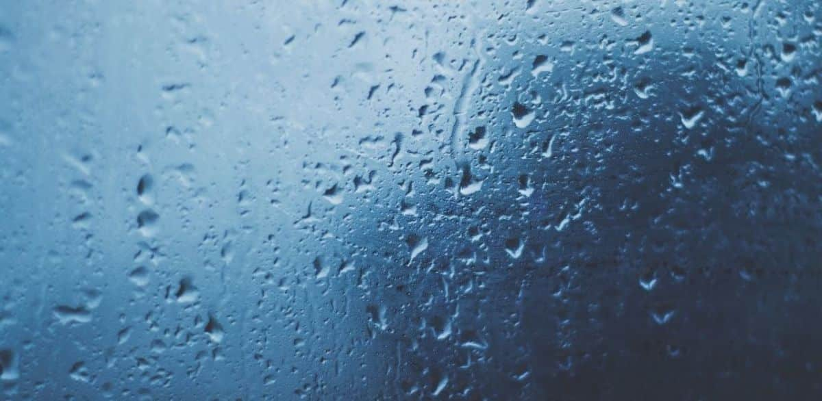 The Rain by Robert Creeley Visual Representation